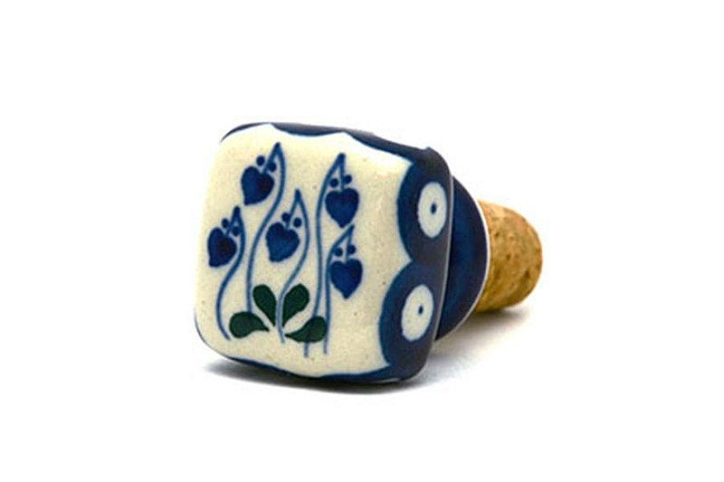 Ceramika Artystyczna Polish Pottery Wine Stopper - Bleeding Heart 832-377o (Ceramika Artystyczna)