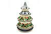 """Ceramika Artystyczna Polish Pottery Christmas Tree Luminary - Large (8"""") - Holly Berry"""