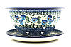 Ceramika Artystyczna Polish Pottery Berry Bowl with Saucer - Winter Viola