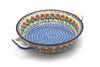 Ceramika Artystyczna Polish Pottery Baker - Round with Handles - Medium - Maraschino