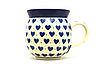 Ceramika Artystyczna Polish Pottery Mug - 11 oz. Bubble - Hearts Delight