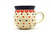 Ceramika Artystyczna Polish Pottery Mug - 11 oz. Bubble - Love Struck