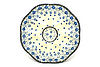 Ceramika Artystyczna Polish Pottery Egg Plate - 8 Count - Silver Lace