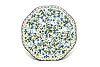 Ceramika Artystyczna Polish Pottery Egg Plate - 8 Count - Forget-Me-Knot