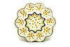 Ceramika Artystyczna Polish Pottery Egg Plate - 10 Count - Buttercup