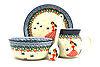 Ceramika Artystyczna Polish Pottery 4-pc. Baby Set - Fairy Princess