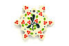 Ceramika Artystyczna Polish Pottery Ornament - Snowflake - Mistletoe