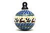 Ceramika Artystyczna Polish Pottery Ornament - Ball - Prancer