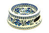 Ceramika Artystyczna Polish Pottery Pet Food/Water Dish - 12 oz. - Winter Viola
