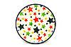 Ceramika Artystyczna Polish Pottery Coaster - Star Studded