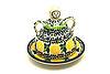 Ceramika Artystyczna Polish Pottery Cheese Lady - Miniature - Lemon Twist