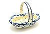 Ceramika Artystyczna Polish Pottery Basket - Large Oval - White Poppy