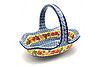 Ceramika Artystyczna Polish Pottery Basket - Large Oval - Maple Harvest