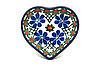 Ceramika Artystyczna Polish Pottery Tea Bag Holder - Heart - Primrose