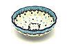 Ceramika Artystyczna  Polish Pottery Bowl - Shallow Scalloped - Small - Diggity Dog