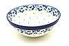 """Ceramika Artystyczna Polish Pottery Bowl - Larger Nesting (9"""") - White Poppy"""