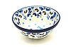 """Ceramika Artystyczna Polish Pottery Bowl - Small Nesting (5 1/2"""") - White Poppy"""