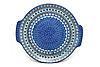 Ceramika Artystyczna Polish Pottery Round Tray with Handles - Aztec Sky