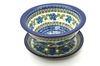 Ceramika Artystyczna Polish Pottery Berry Bowl with Saucer - Morning Glory