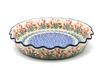 Ceramika Artystyczna Polish Pottery Baker - Pie/Quiche - Fluted - Crimson Bells