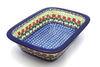 Ceramika Artystyczna Polish Pottery Baker - Rectangular with Grip Lip - Maraschino