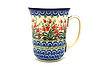 Ceramika Artystyczna Polish Pottery Mug - 16 oz. Bistro - Crimson Bells