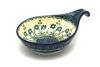 Ceramika Artystyczna Polish Pottery Spoon/Ladle Rest - Blue Spring Daisy