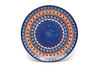 "Ceramika Artystyczna Polish Pottery Plate - 10"" Dinner - Aztec Sun"