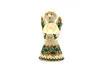 Ceramika Artystyczna Polish Pottery Angel Figurine - Small - Holly Berry