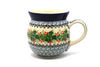 Ceramika Artystyczna Polish Pottery Mug - 15 oz. Bubble - Holly Berry