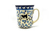Ceramika Artystyczna Polish Pottery Mug - 16 oz. Bistro - Boo Boo Kitty
