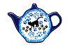 Ceramika Artystyczna Polish Pottery Tea Bag Holder - Boo Boo Kitty