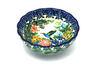 Ceramika Artystyczna Polish Pottery Bowl - Shallow Scalloped - Small - Unikat Signature U3271