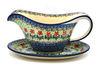 Ceramika Artystyczna Polish Pottery Gravy Boat - Maraschino