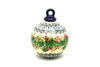 Ceramika Artystyczna Polish Pottery Ornament - Ball - Holly Berry