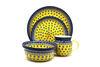 Ceramika Artystyczna Polish Pottery 4-pc. Place Setting with Standard Bowl - Sunburst