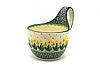Ceramika Artystyczna Polish Pottery Loop Handle Bowl - Daffodil