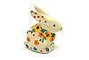 Ceramika Artystyczna Polish Pottery Rabbit Figurine - Small - Buttercup