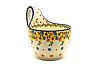 Ceramika Artystyczna Polish Pottery Loop Handle Bowl - Buttercup