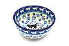 Ceramika Artystyczna Polish Pottery Bowl - Ice Cream/Dessert - Boo Boo Kitty