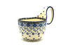 Ceramika Artystyczna Polish Pottery Loop Handle Bowl - Silver Lace