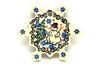 Ceramika Artystyczna Polish Pottery Ornament - Snowflake - Unikat Signature - U4661