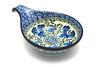 Ceramika Artystyczna Polish Pottery Spoon/Ladle Rest - Winter Viola