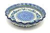 Ceramika Artystyczna Polish Pottery Baker - Pie Dish - Fluted - Winter Viola