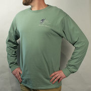 Comfort Wash Pub Club Long Sleeve Tee - Cypress Green (Comfort Wash)