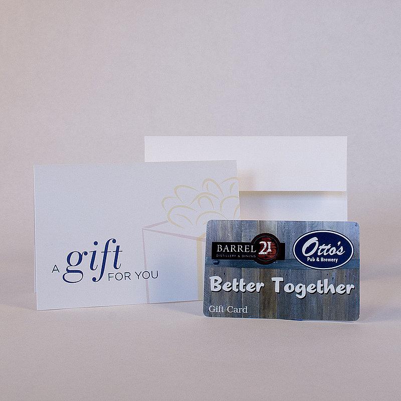 $60 Otto's & Barrel 21 Gift Card