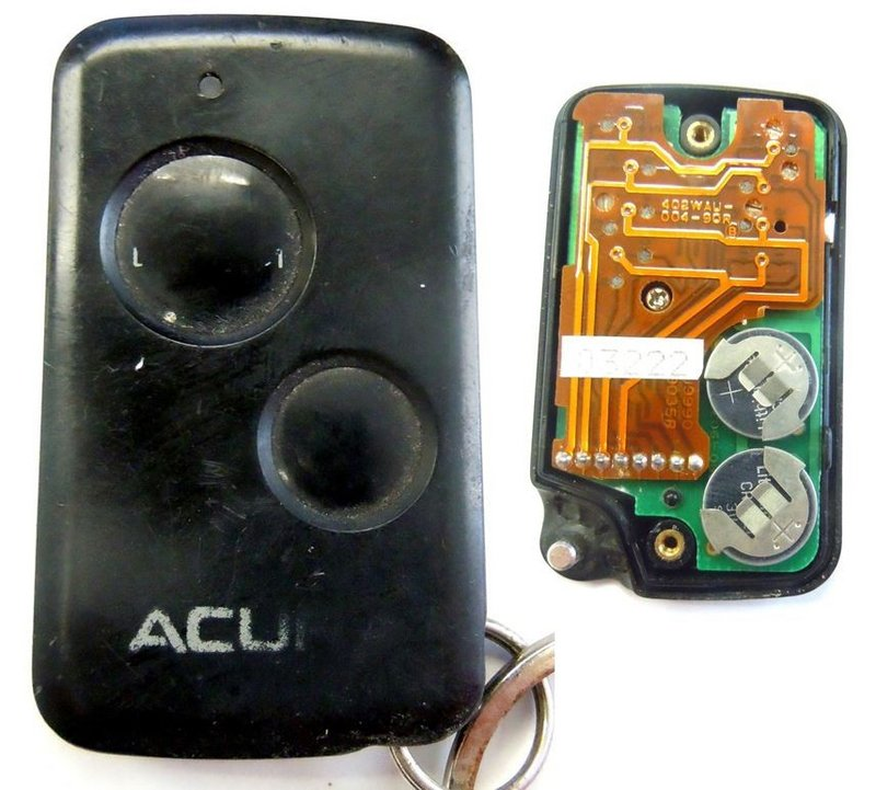 PARTS ONLY Dealer Installed Key Fob Fits Acura 2 Button