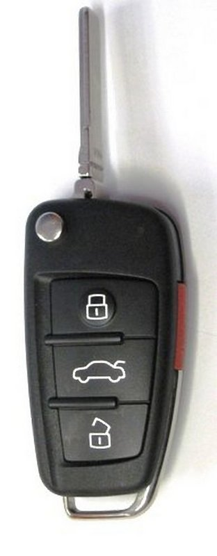 Used OEM Remote Flip Key Audi Switchblade Keyless Fob Transmitter FCCID:IYZ3314