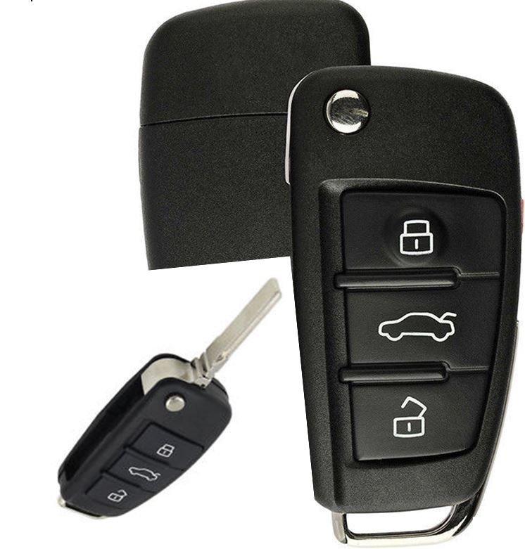 2 Car Key Fob Alarm Transmitter Remote For 2006 2007 2008 2009 2010 Audi A6