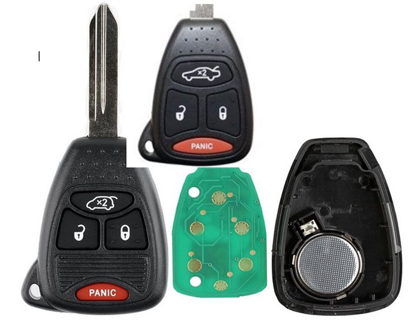 2 Uncut Replacement Keyless Entry Remote 4 button Fob Transmitter for KOBDT04A